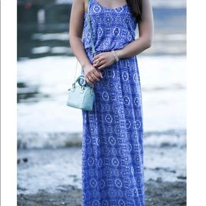 Blue and white lush maxi dress. Only worn once